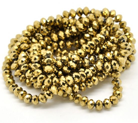 Gold Coated Crystal Beads